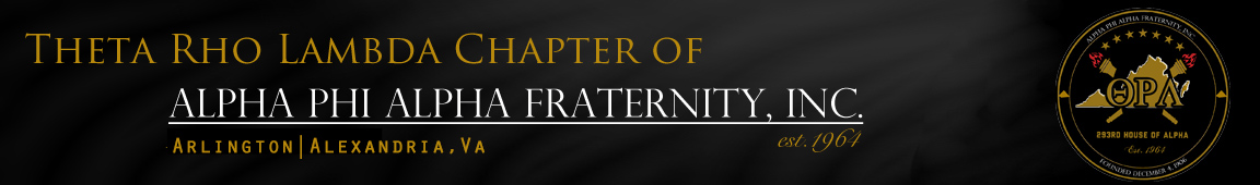 Theta Rho Lambda Chapter of Alpha Phi Alpha Fraternity, Inc.